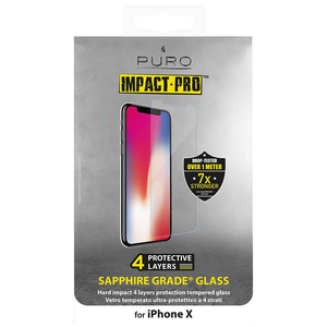 PURO SAPPHIRE GRADE TEMPERED GLASS SCREEN PROTECTOR TRANSPARENT FOR IPHONE X
