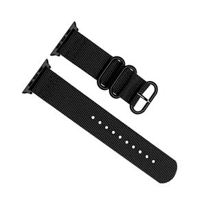 Promate Nylox-38 Black Trendy Nylon Fiber with Metal Deployment Buckle for 38mm Apple Watch