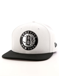 New Era NBA Metallic Brooklyn Nets White Cap