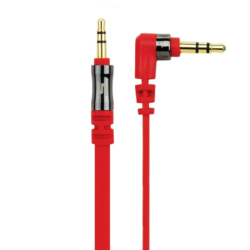 Scosche Flatout 3Ft Red Audio Cable iPod/iPhone/iPad