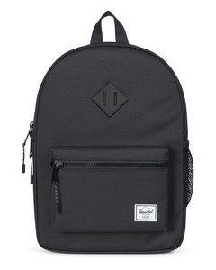 Herschel Heritage Youth Black/Black Rubber Backpack