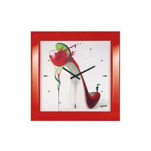 Lowell High Heel Apple Quartz Clock With Red Frame