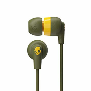 Skullcandy Ink'd+ Moss/Olive/Yellow In-Ear Earphones with Mic