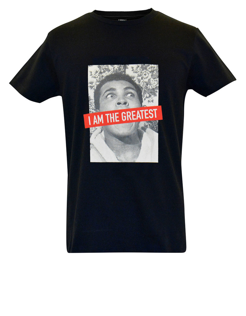 muhammad ali ali the greatest image black t shirt tops. Black Bedroom Furniture Sets. Home Design Ideas