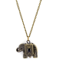 Oh Hello Friend Pocket Watch Elephant Necklace