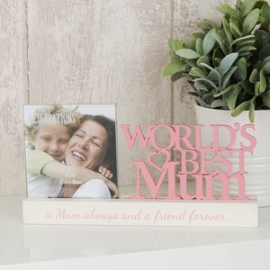 Celebrations Celebrations Photo Frame World's Best Mum 4 x 4 inch