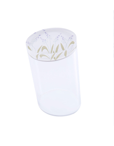 Silsal Seasonal Acrylic Catch All Lavender Container [Large]