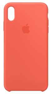 APPLE SILICONE CASE NECTARINE FOR IPHONE XS MAX