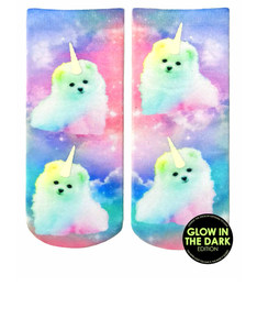 Living Royal Unicorn Puppy Unisex Ankle Socks