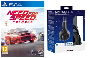 Need For Speed: Payback Ps4 + Konix Mythics Ps-600 Gaming Headset For Ps4