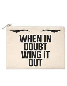 Savethepeople When In Doubt Wing It Out Make-Up Bag