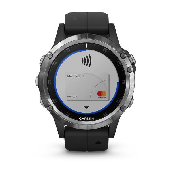 Garmin Fenix 5 Plus Silver with Black Band Smart Watch