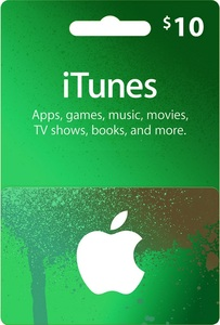 Apple iTunes Gift Card 10 USD