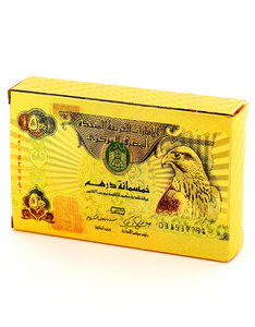 500 Dirhams Gold Foil Plated Playing Cards