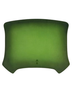 Ullu Hand Colored Leather Lime Mouse Pad