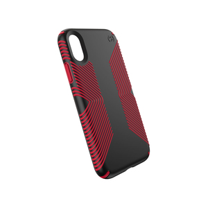 SPECK PRESIDIO GRIP CASE BLACK/DARK POPPY RED FOR IPHONE XR