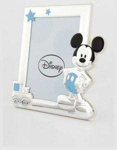 Disney Mickey Mouse Train Photo Frame Silver/Blue [13x18cm]