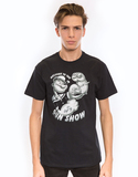 Popeye Gun Show Black Adult 18/1 Mens Tshirt Xl