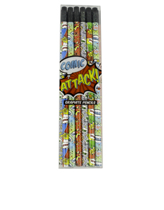 International Arrivals Comic Attack Pencils [Set Of 12]
