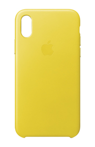 APPLE LEATHER CASE SPRING YELLOW FOR IPHONE X