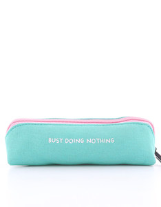 OHH DEER GEMMA CORREL BUSY DOING NOTHING TURQUOISE SMALL PENCIL CASE