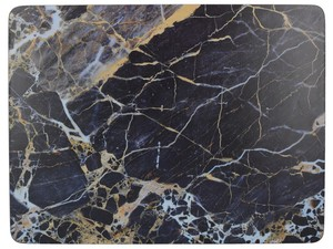 Premium Marble Standard Placemats Navy [Set of 6]