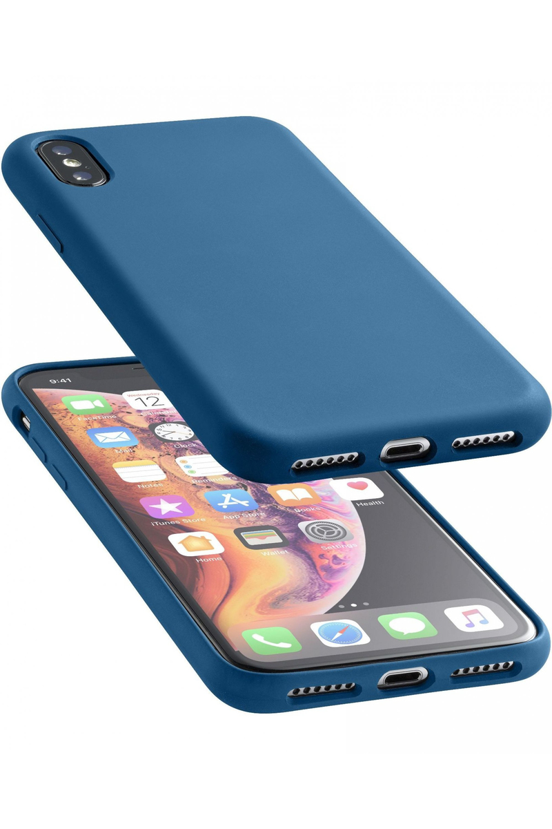 buy popular 8b4f4 31916 CellularLine Sensation Soft Touch Case Blue for iPhone XS Max