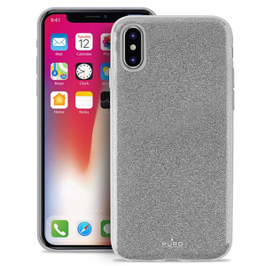 PURO SHINE PC/TPU CASE SILVER FOR IPHONE X