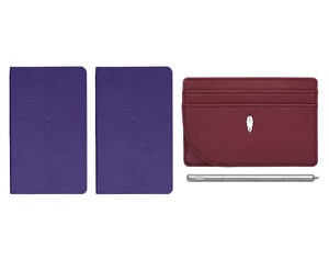 Inscribe Journals + Wallet + Pen Set Purple Crimson