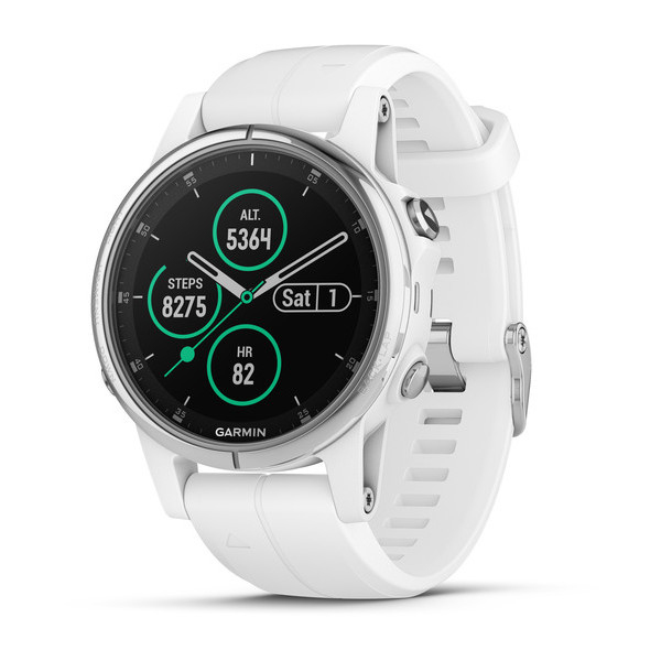 Garmin Fenix 5S Plus Sapphire White with White Band GPS Watch