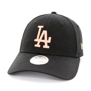 New Era Womens League Essential LA Dodgers Ladies Cap Black/Peach