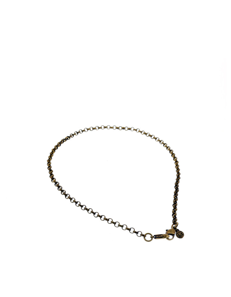 Belcher Chain 18 Inch Ant Brass Necklace Chain