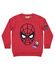Marvel Spiderman Applique Face Badge Sweater