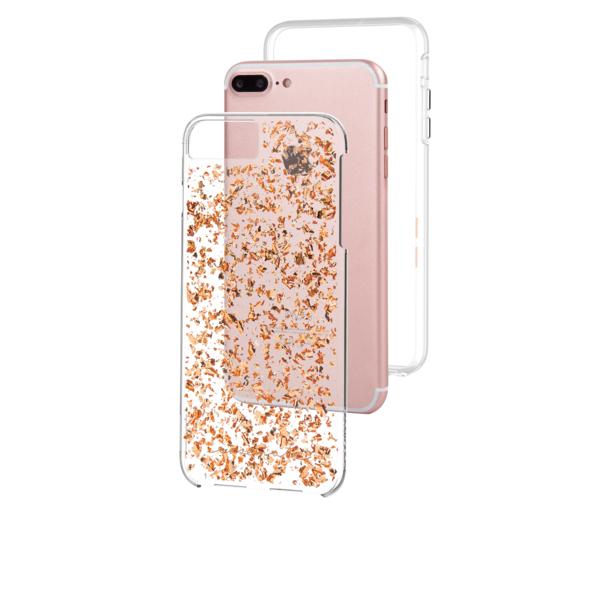 iphone 7 plus gold case. case-mate karat case rose gold/clear iphone 7 plus iphone gold