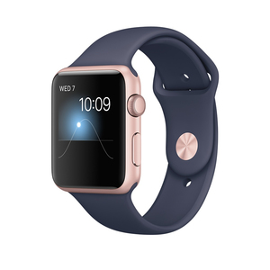 Apple Watch Series 2 42mm Rose Gold Aluminium Case with Midnight Blue Sport Band