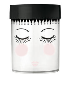 Miss Etoile Eyes & Dots Canister Black/Wht Large