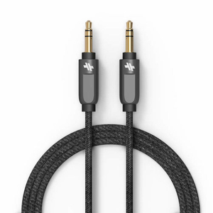 Swiss Mobility Alloy Series Gunmetal Auxiliary Cable 4Ft