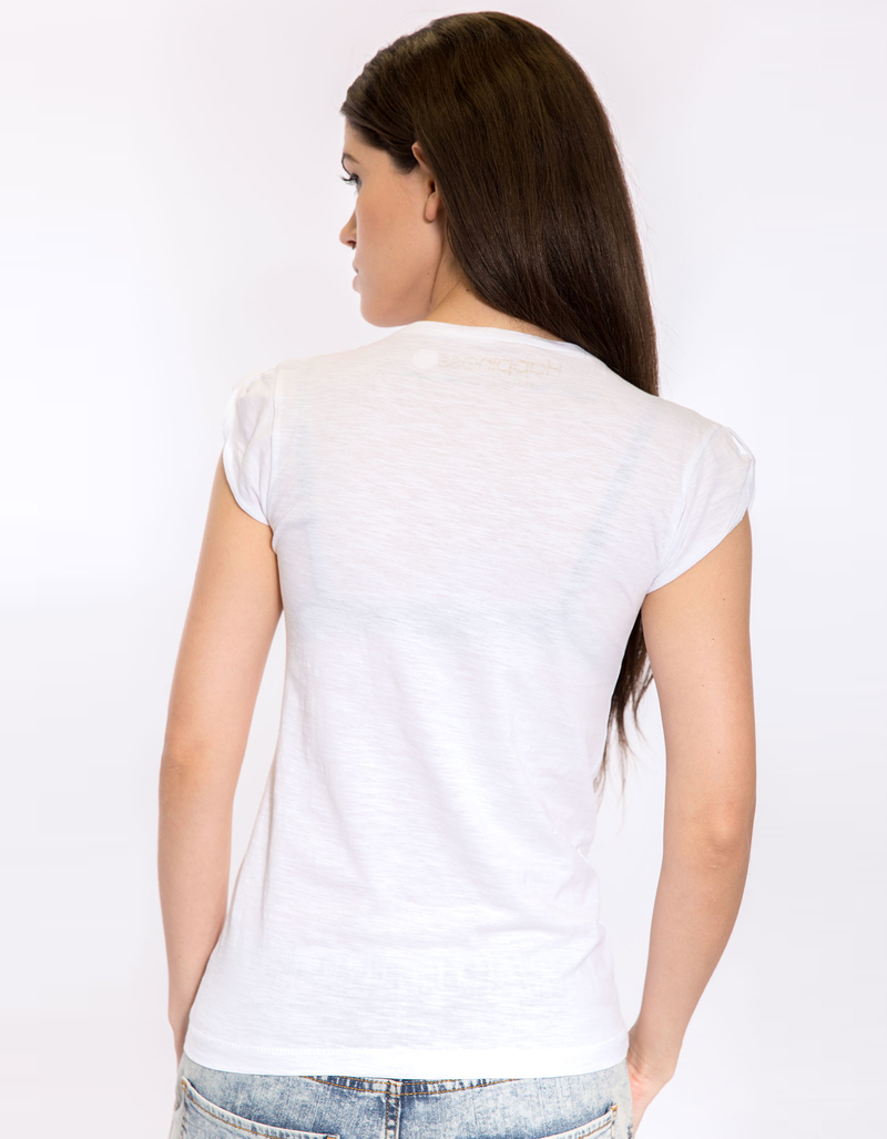 Set And The City White Women'S Artist Tee M