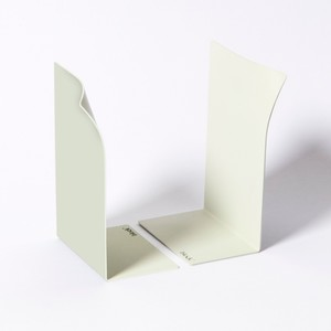 Block Page Book Ends White