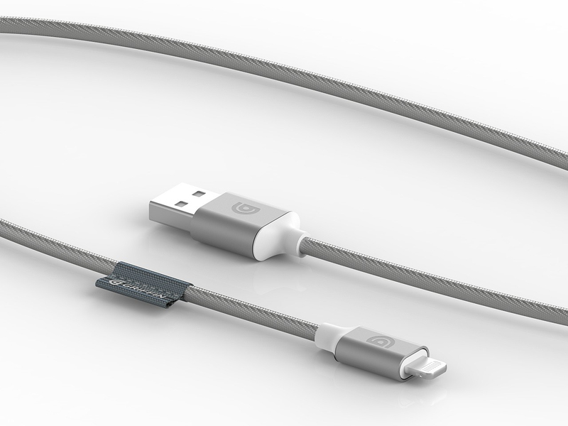 Griffin Premium Silver Lightning Cable 5Ft
