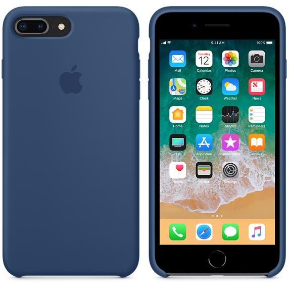 Apple Silicone Case Blue Cobalt For IPhone 8 Plus 7
