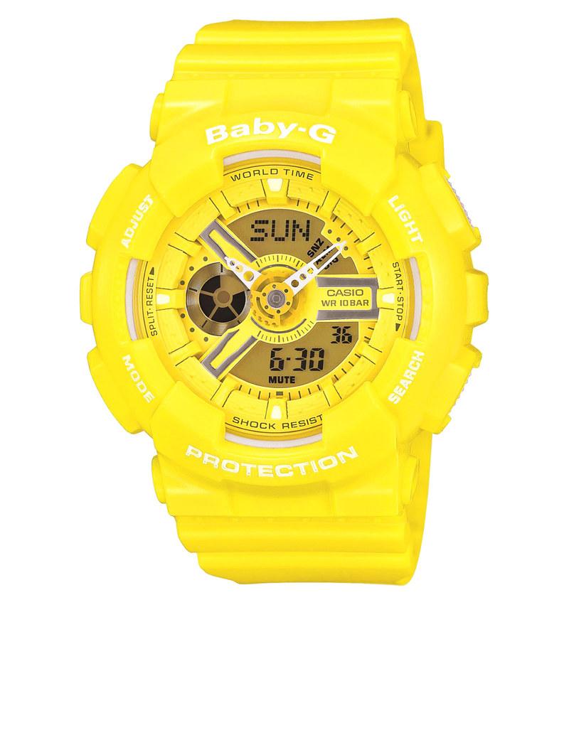 141d9a31c402 Casio BA110BC Baby-G Analog Digital Watch Yellow