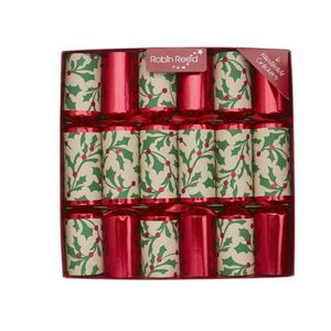 Robin Reed Piccadilly Jolly Holly Christmas Crackers [Set of 6]