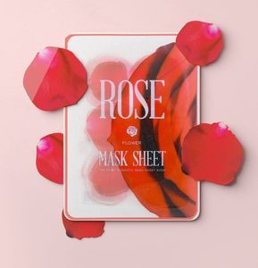 Kocostar Flower Mask Sheets Rose [Pack of 12]
