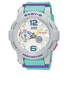 Casio BGA-180 Baby-G Analog/Digital Watch Green