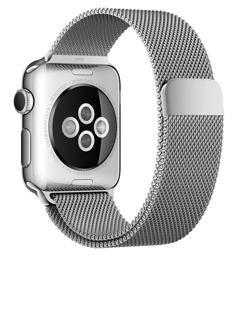 Apple Watch 38mm Stainless Steel Case Milanese Loop