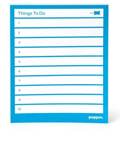 POPPIN INC TASK PADS POOL BLUE [SET OF 3]