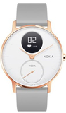 Withings Nokia Steel HR Rose Gold 30mm White/Grey Silicone Band Smart Watch