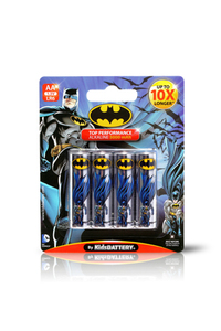 Kids Battery Batman 4X AA/LR6 Alkaline Batteries