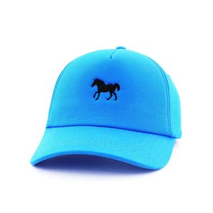 B180 Horse4 Men's Cap Blue